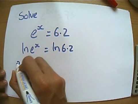 Introduction to solving equations involving e and ln