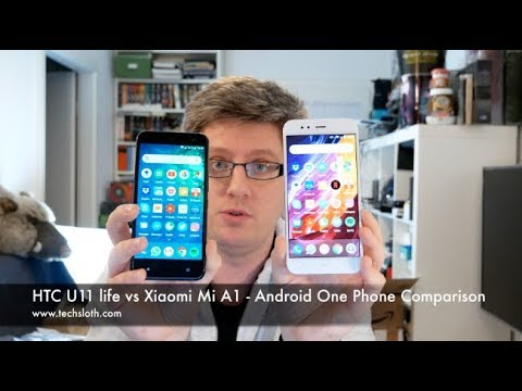 HTC U11 life vs Xiaomi Mi A1 - Android One Phone Comparison