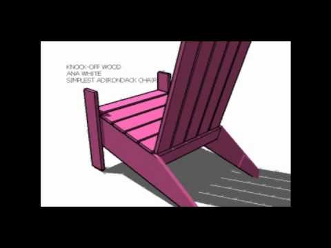 Ana's Simple Adirondack Chair.wmv