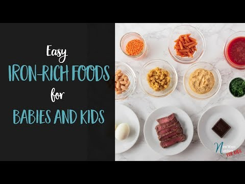 Easy Iron Rich Foods for Babies and Kids!