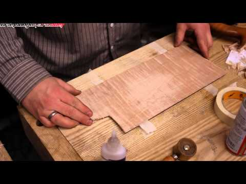 how to thickness plane veneer by hand with the 'Masking tape trick'