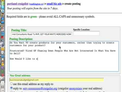 How To Create  CraigsList Image Ads To Sell Arbonne ...