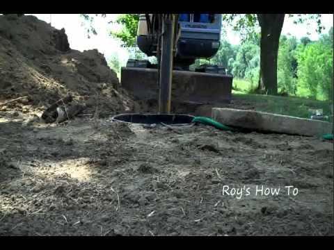 Septic Tank Outlet Pipe Repair