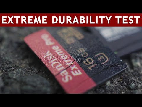 How durable are MicroSD cards? | Water, Heat, Cold, X-Ray, Shocks, ...