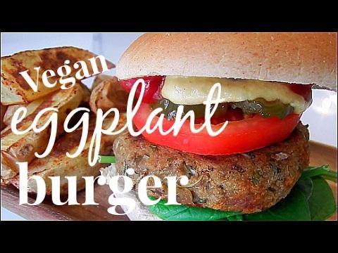 Vegan eggplant burger