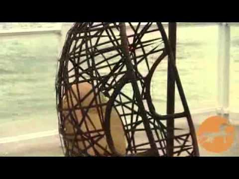 Patio Swinging Egg Outdoor Wicker Chair