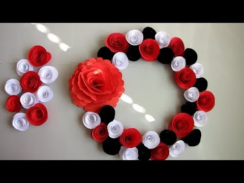 DIY. Simple Home Decor. Wall Decoration. Hanging Flower. Paper Craft Ideas #17