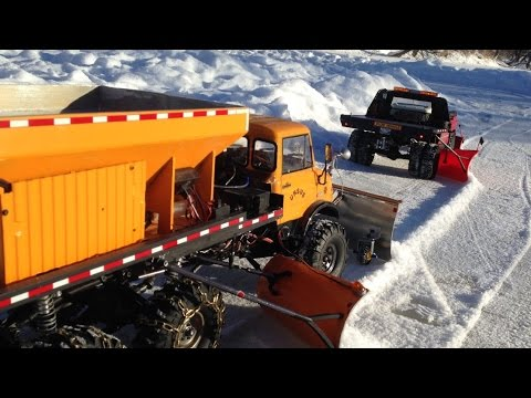 RC Unimog 6x6 Wing Plow Chevy Dually Wing plow