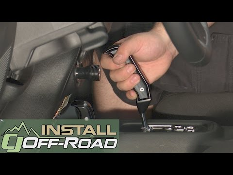 Jeep Wrangler JK B&M Shift Handle Kit Magnum Grip Black With 4WD Handle Automatic 07-18 Installation