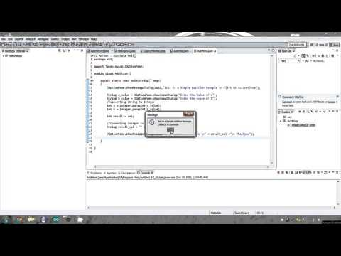 addition java using Dialog Boxes