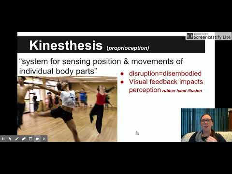 Kinesthesis--simple definition