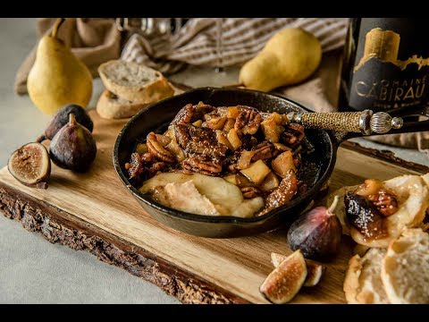 Brown Butter Fig & Pear Baked Brie