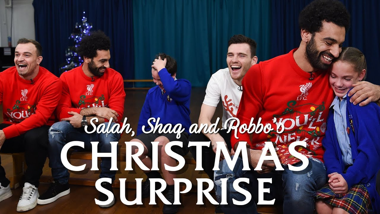 Salah, Shaqiri and Robbo's festive surprise for local school pupils | PRICELESS REACTIONS