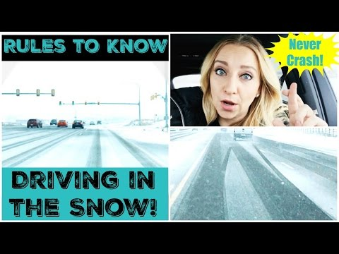 How to Drive in the Snow Tutorial and What Rules to Know! Don't Slide, Wreck or Crash!
