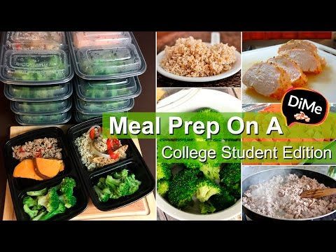 How To Meal Prep - Healthy Meal Prep on Dime! $20 College Budget - Ep 1