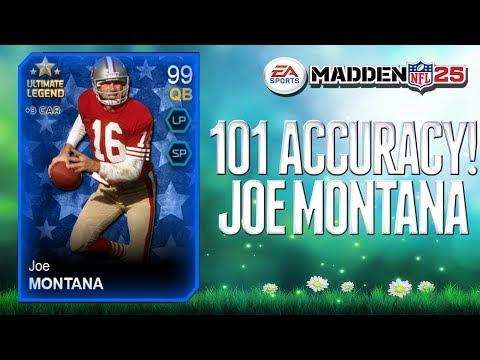 Madden 25 Ultimate Team  - NEW 101 ACCURACY JOE MONTANA! - Crazy Ultimate Legends! - MUT 25