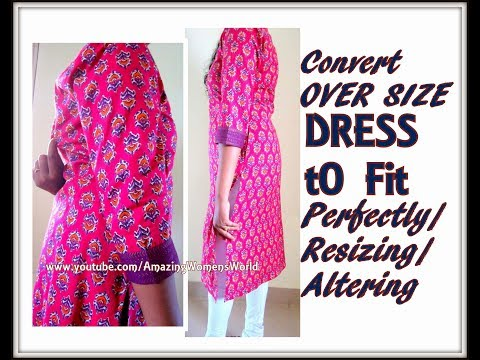 How to Alter Over-sized Garment / Resizing / to fit perfectly - SIMPLE TIPS / DIY / Loose to FIT - 1
