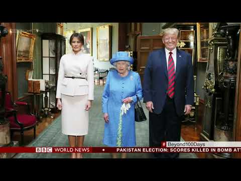 Donald Trump's photo with the Queen