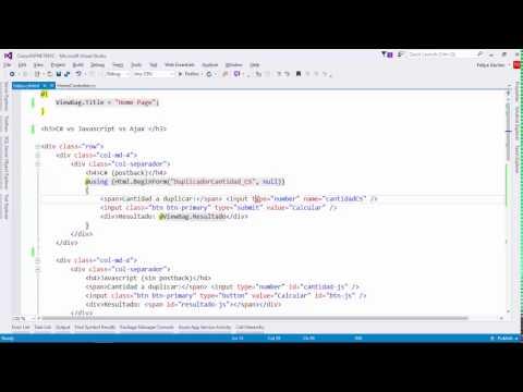 Escenarios: C# vs Javascript vs AJAX | AJAX | Programando en ASP.NET MVC 5