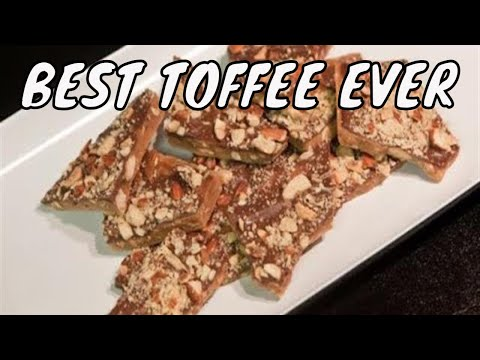 homemade almond toffee with chocolate - Part 1