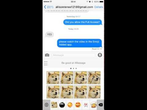 Emoji Added Keyboard Video Manual