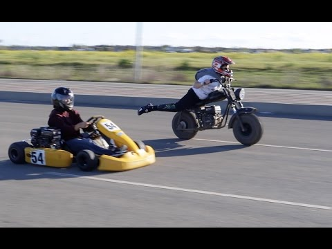 GO KART VS MINI BIKE RACE + TOP SPEED.