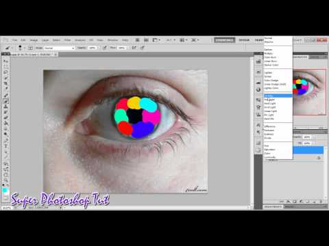 Colorful Eye Lens Effect in Photoshop