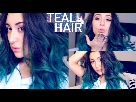 Ombre Teal Hair Tutorial | I DYED MY HAIR TEAL