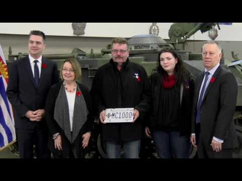 BC launches Memorial Cross licence plates