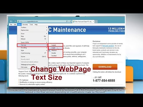 How to Change Text Size in Internet Explorer® 11 on Windows® 8.1 PC