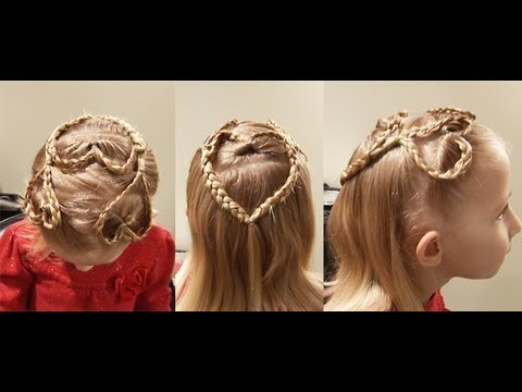 Triple Heart Braid // Fun Cute Hairstyle
