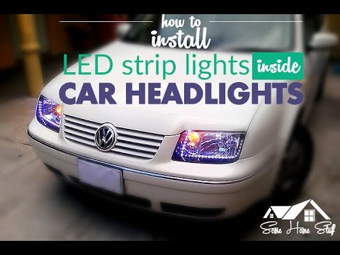 How to install LED strip lights inside headlights
