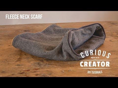 #28 Fleece Neck Scarf - DIY Curious Creator