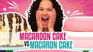how to make a giant coconut macaroon french macaron out of cake yolanda gampp how to cake it