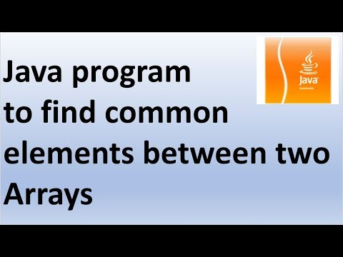 Java program to find common elements between two Arrays