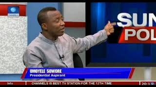 Omoyele Sowore Interview on Channels TV Politics Today with Seun Okinbaloye