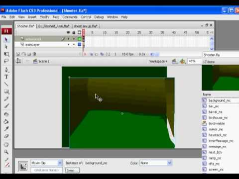 Flash Shooter Game 2 - Actionscript 2.0