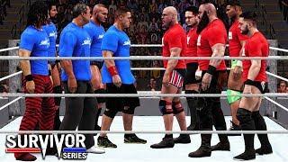 WWE 2K18 Survivor Series 2017 - Team RAW vs Team Smackdown 5 on 5 Survivor Series Elimination Match!