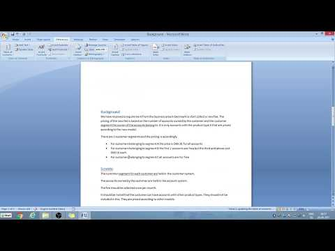 Microsoft Word, Table of Contents for dummies