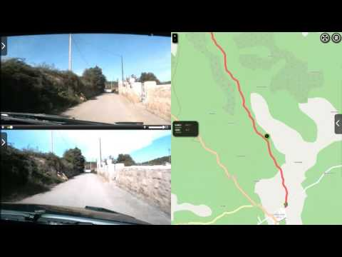 Kubica vs Ogier ss5 rally Catalunya-costa Daurada 2015