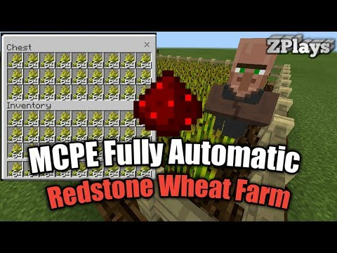 Fully Automatic Wheat Farm /MCPE 1.1.3