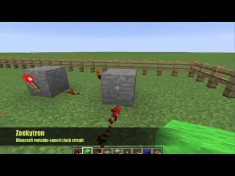 Minecraft variable-speed clock circuit