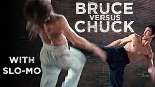Bruce Lee versus Chuck Norris from