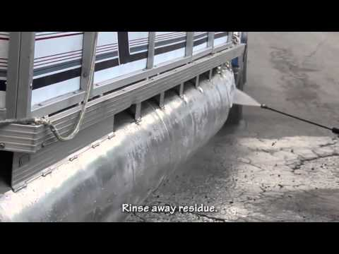 How to Clean & Polish Aluminum Pontoon in Less than 1 hr