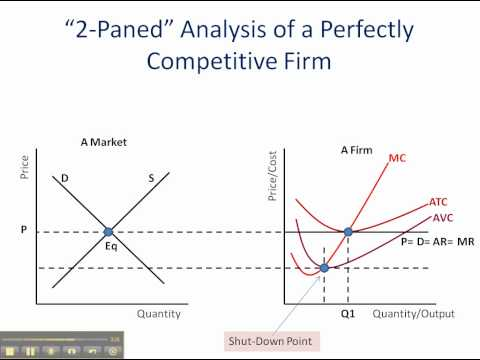 Perfect Competition: Economic Profit, Loss, & Shut-Down