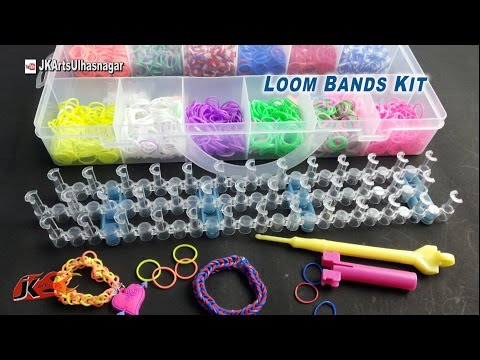 Loom Band Bracelet making kit and How to use | JK Arts 902