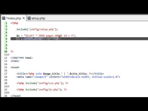 Developing a Dynamic Website 2014 - Part 9 - Using PHP to Display Data from MySQL