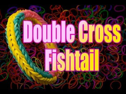 How to make a Rainbow Loom Double Cross Fishtail Bracelet HD