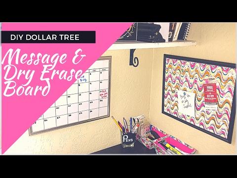 DIY Dollar Tree Push Pin Message Board/Dry Erase Board