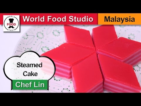 Malaysian Dessert - Layered Steamed Cake - Kuih Lapis - Chef Lin - World Food Studio